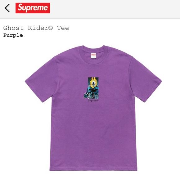 10cd292c Supreme Shirts | Ghost Rider Tee In Purple | Poshmark